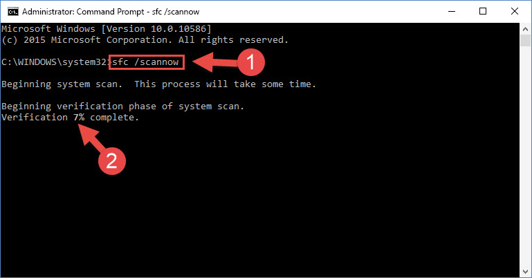 Getting rid of Windows Dll errors by running the sfc /scannow command